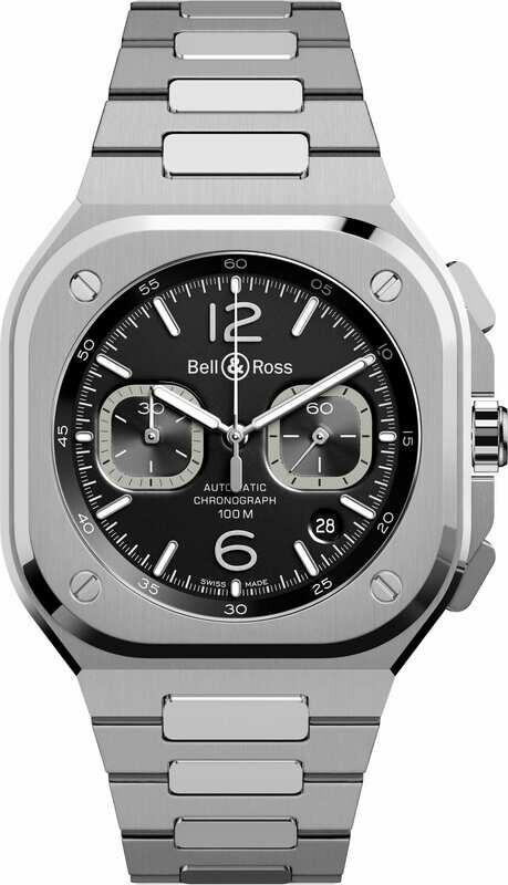 Bell & Ross BR 05 Chrono Black Steel on Bracelet