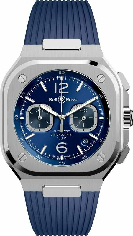 Bell & Ross BR 05 Chrono Blue Steel on Strap