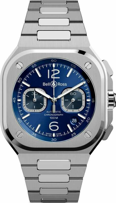 Bell & Ross BR 05 Chrono Blue Steel on Bracelet