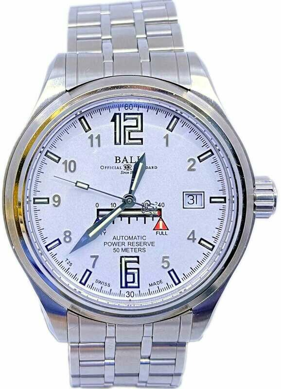 Ball Trainmaster Automatic White Dial NM1056D-SAJ-WH