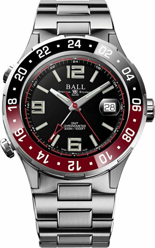 Ball Roadmaster Pilot GMT 40mm Black Dial