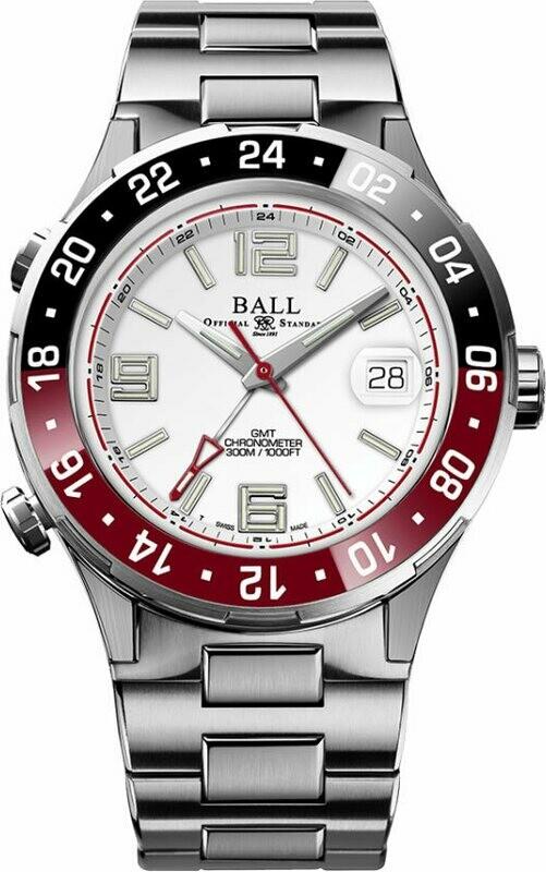 Ball Roadmaster Pilot GMT 40mm White Dial