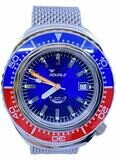 Squale Blue Red Sapphire Bezel 2002.SS.BLR.BL.ME22