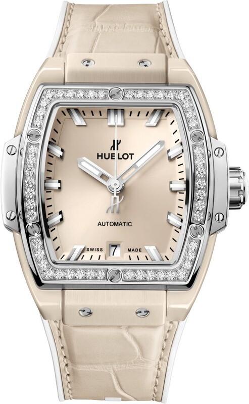 Hublot Spirit of Big Bang Beige Ceramic Titanium Diamonds