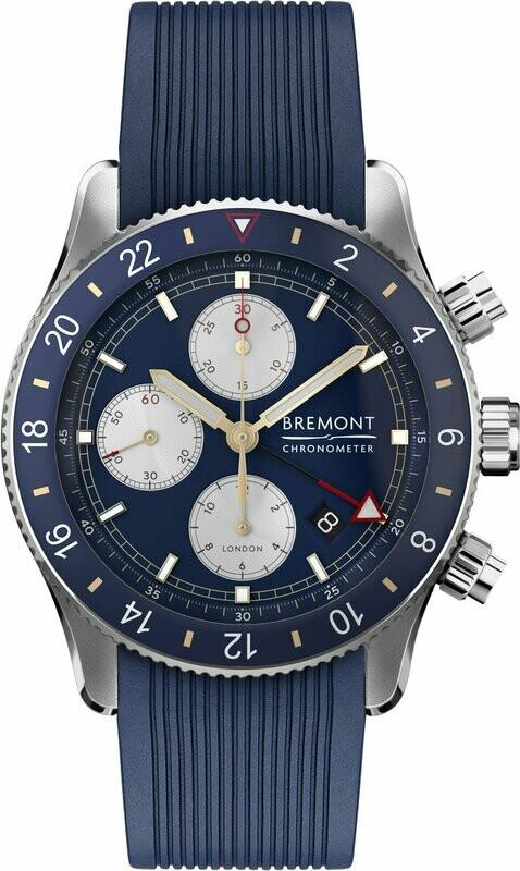 Bremont Supermarine Chronograph Blue Dial on Strap