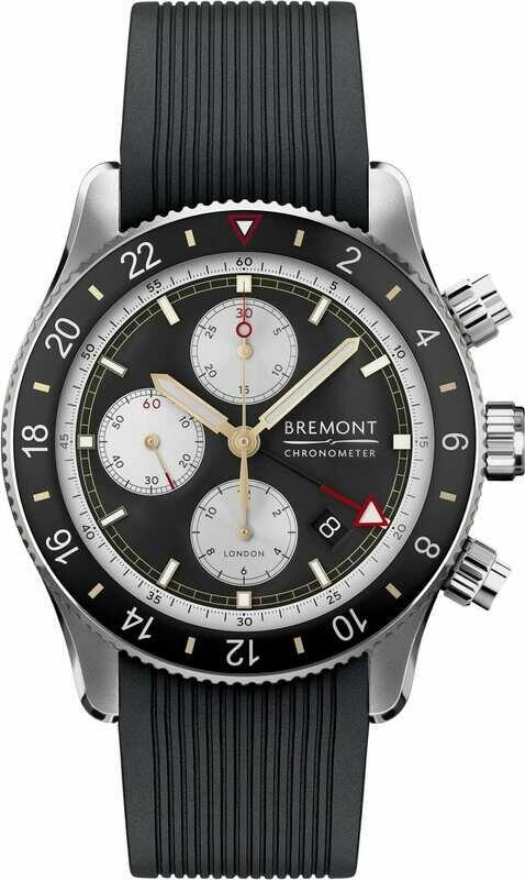 Bremont Supermarine Chronograph Black Dial on Strap