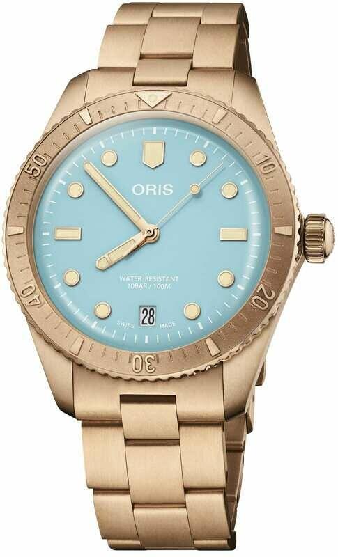 Oris Cotton Candy Sky Blue on Bracelet