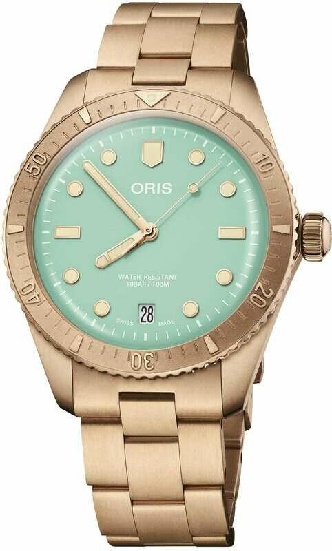 Oris Cotton Candy Wild Green on Bracelet