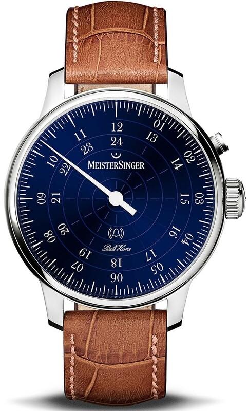 MeisterSinger Bell Hora Blue Dial