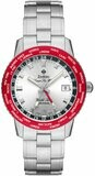 Zodiac Super Sea Wolf World Time GMT Red