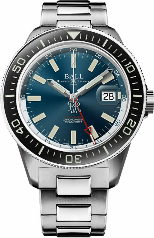 Ball Engineer III Hurricane Hunters 40mm Sapphire Elapsed Time Bezel Blue