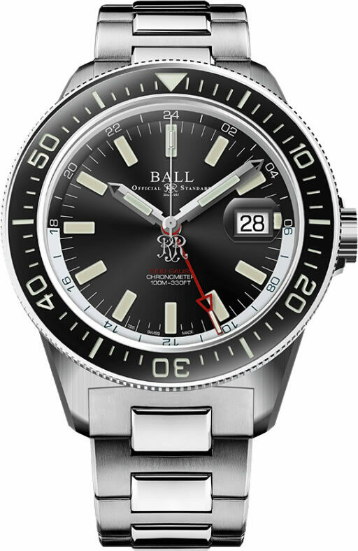 Ball Engineer III Hurricane Hunters 40mm Sapphire Elapsed Time Bezel Black