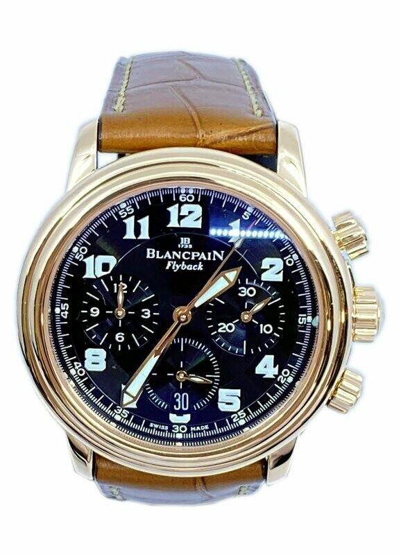 Blancpain Leman Chronograph Flyback 2185 18k Rose Gold