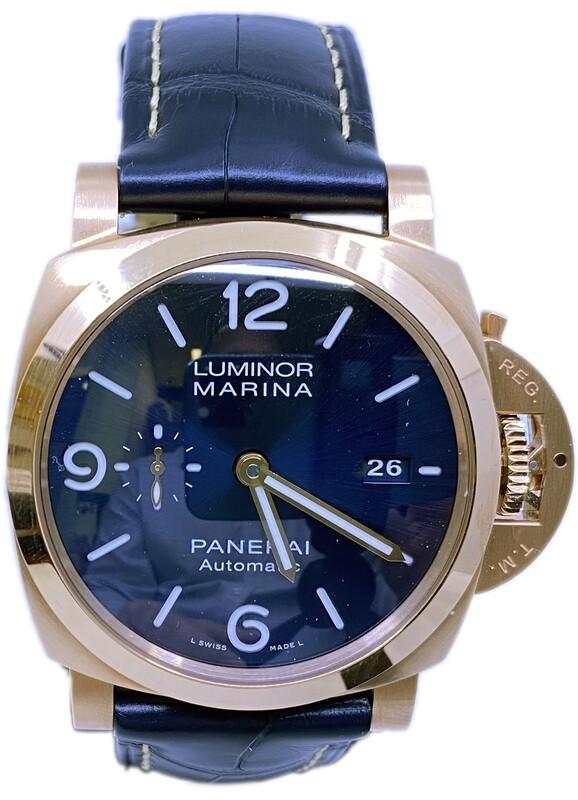 Panerai Luminor Marina Goldtech Sole Blu PAM01112