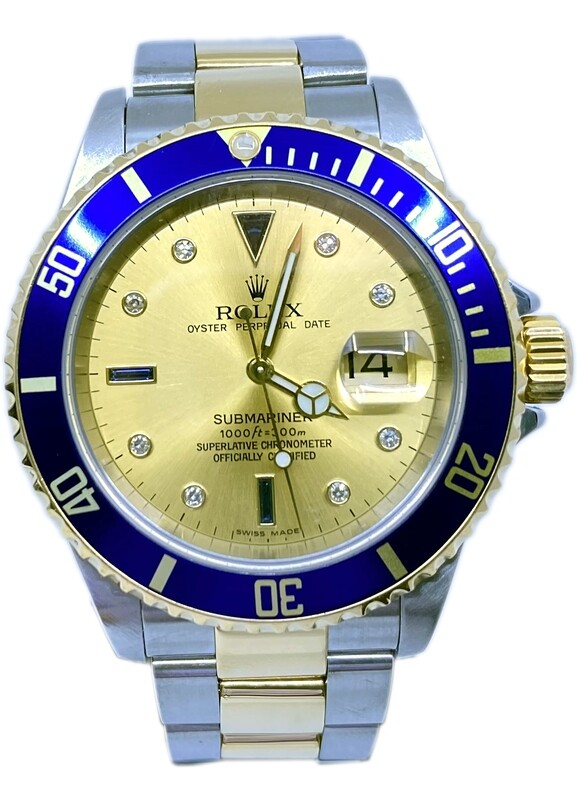 Rolex Submariner 16613 Two Tone Champagne Dial