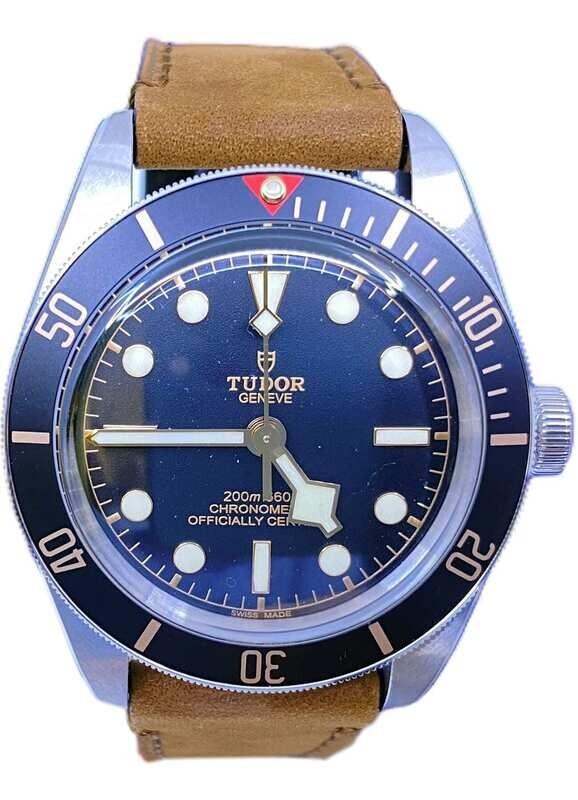 Tudor Black Bay 58 on Brown Leather Strap 79030N