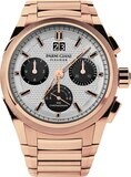 Parmigiani Fleurier Tondagraph GT Rose Gold Silver Black on Bracelet