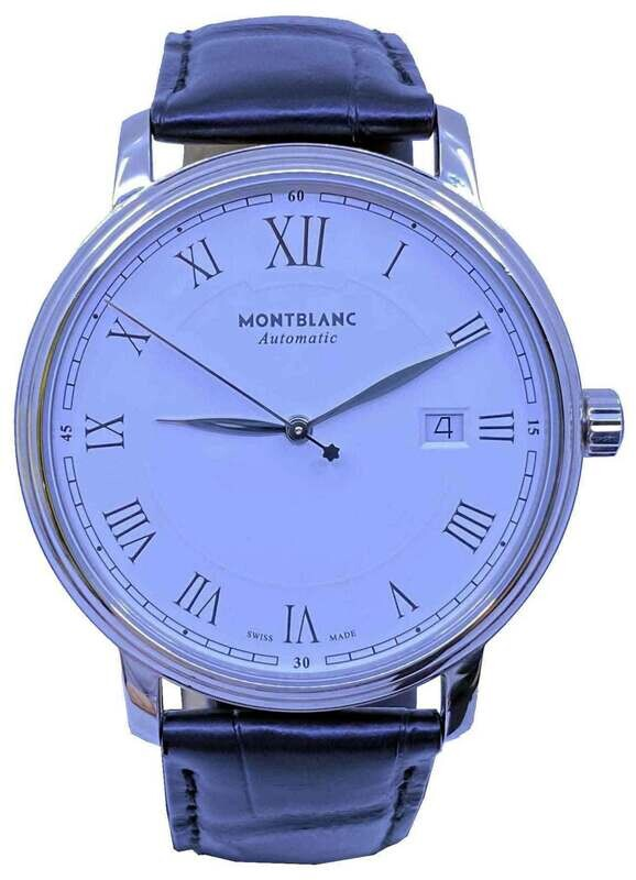 Montblanc Tradition White 40mm on Strap