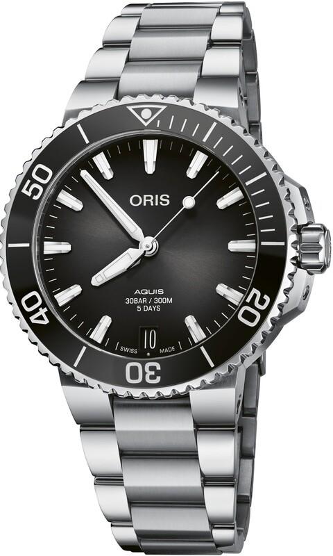 Oris Aquis Date Calibre 400 41.5mm Black Dial