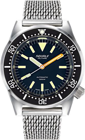 Squale 1521 Militare Polished Steel on Bracelet
