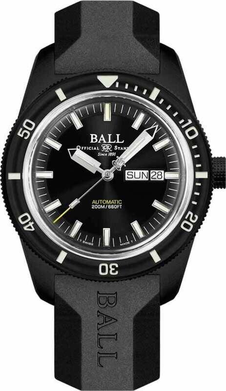 Ball Engineer II Skindiver Heritage Full Black on Strap DM3208B-P4-BK