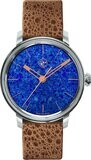 Lundis Bleus Contemporaines Abstract on Frog Leather Strap