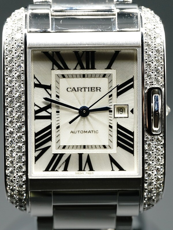 Cartier Tank Anglaise Medium Automatic Ladies Watch WT100009