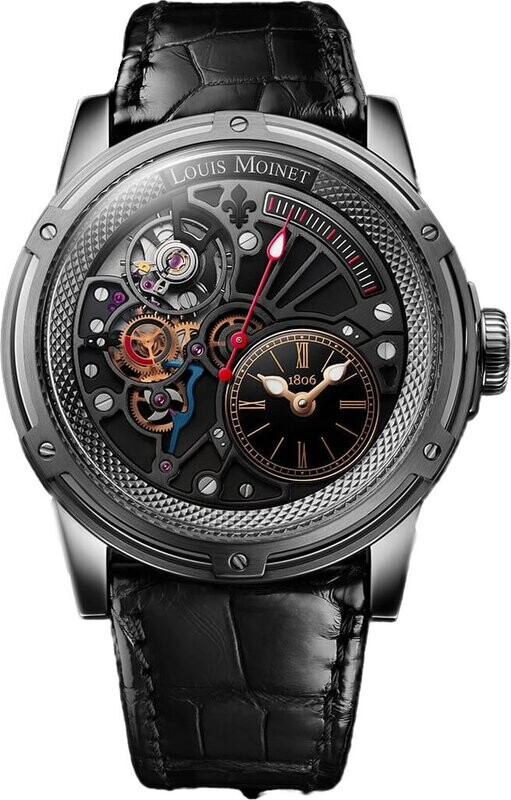 Louis Moinet Tempograph Chrome Stainless Steel Black