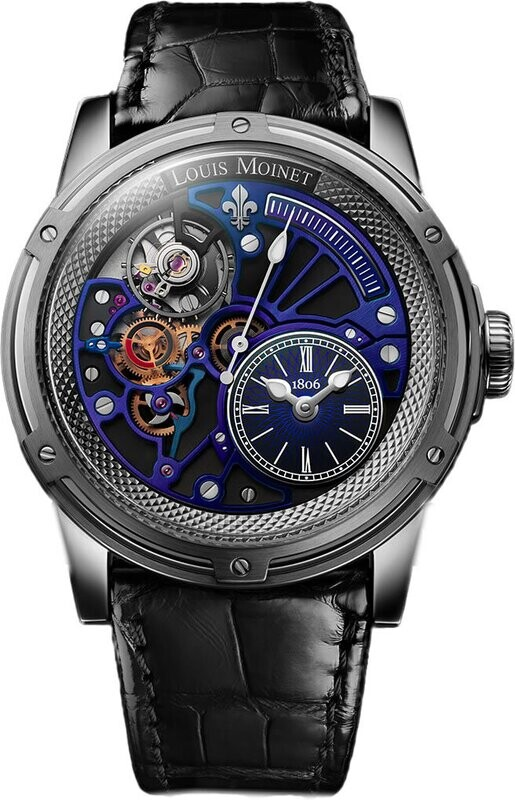 Louis Moinet Tempograph Chrome Stainless Steel Blue