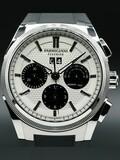 Parmigiani Fleurier Tondagraph GT Steel Silver Black on Strap PFC906-0000140-X01482