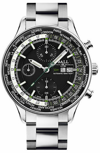 Ball Engineer II Navigator World Time Chronograph CM3388D-S-BK