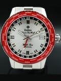 Zodiac Super Sea Wolf World Time GMT Red ZO9410