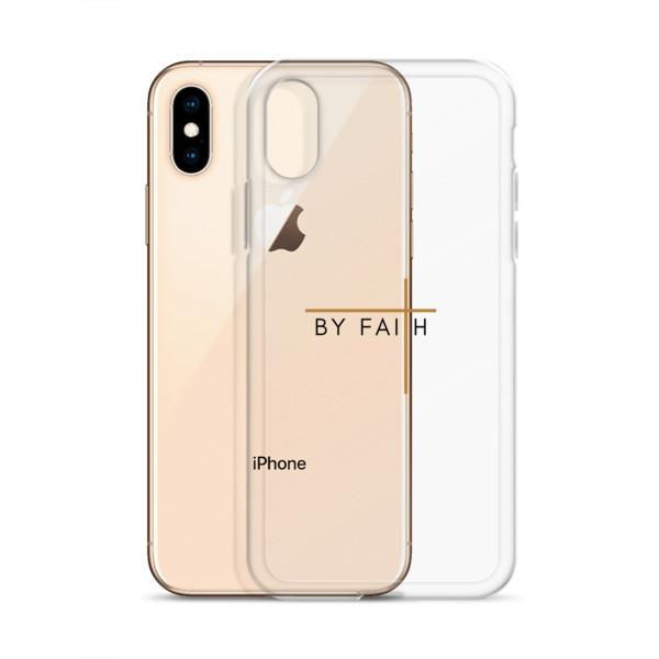 By Faith - Black/Tan iPhone Case