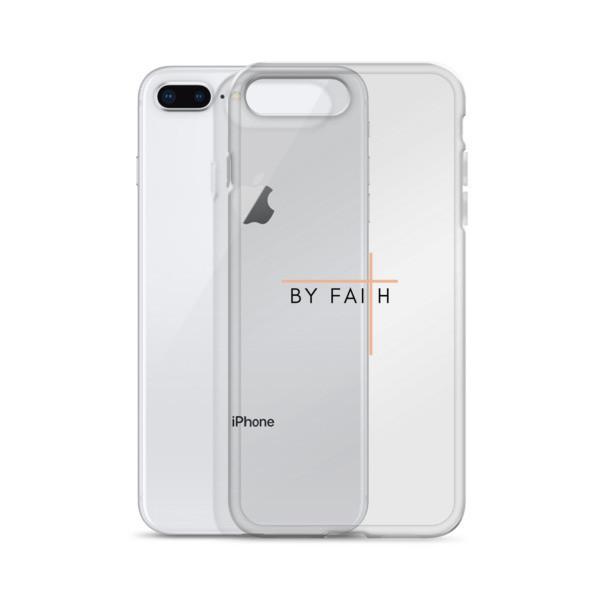 By Faith - Black/Rose iPhone Case