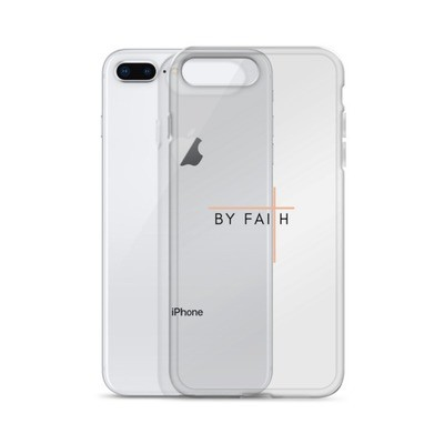 By Faith - Black/Rose iPhone Case