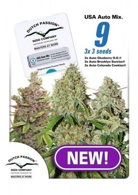 USA Mix Auto Feminised Seeds - 9