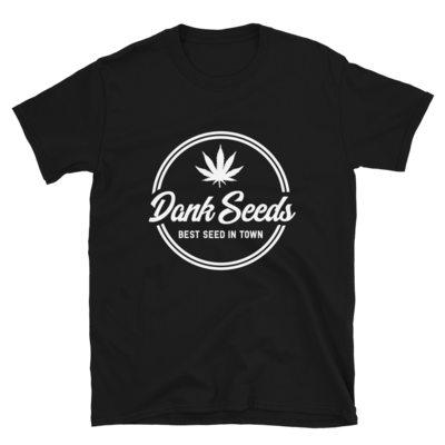 Dank Seeds - White Logo Tee
