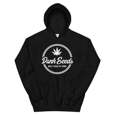 Dank Seeds - White Logo Hoodie