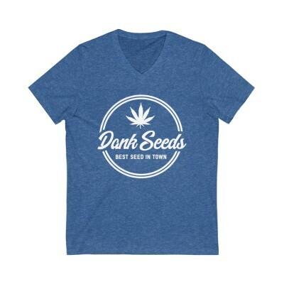 Dank Seeds - Unisex Jersey Short Sleeve V-Neck Tee