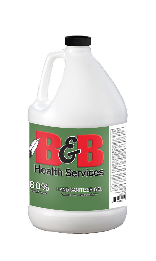 EA 80% Liquid Sanitizer, 1 gallon  (qty: Each)