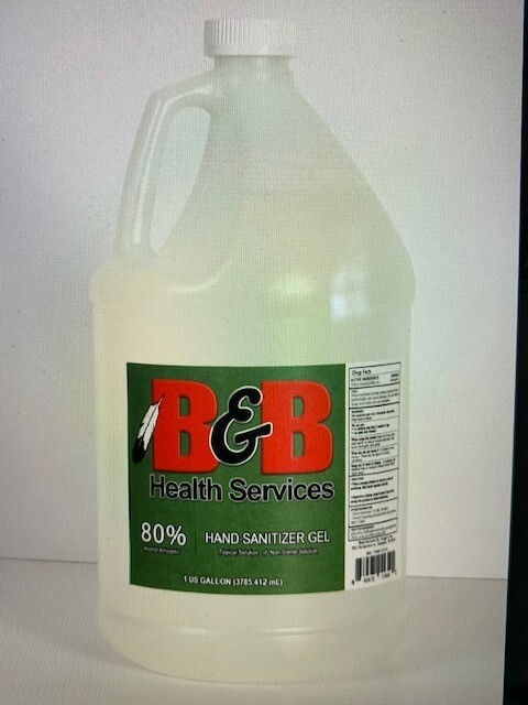 EA 80% Gel Sanitizer, 1 gallon  (qty: Each)