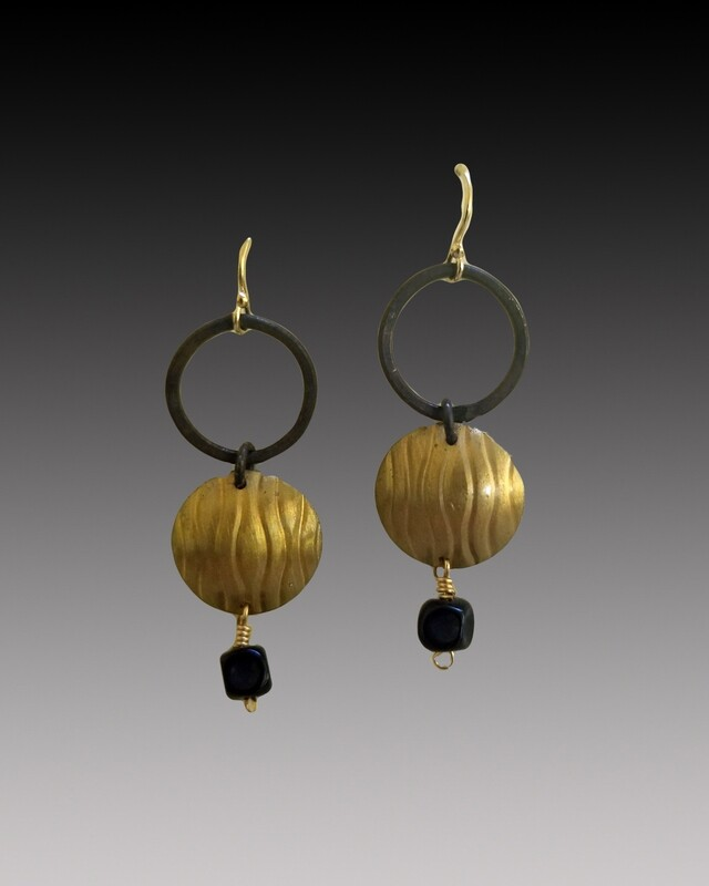 Hoop n Disc Earrings