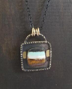 Custom for SH - Opalwood Pendant