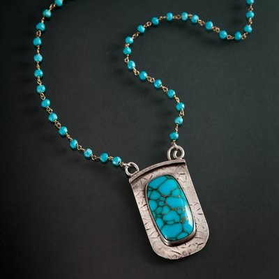 Turquoise Beaded Pendant
