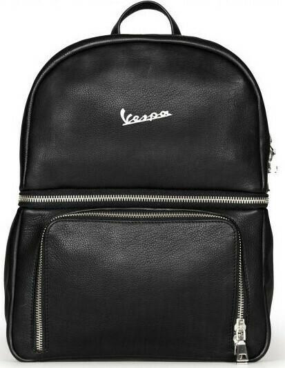 Рюкзак Vespa кожаный черный