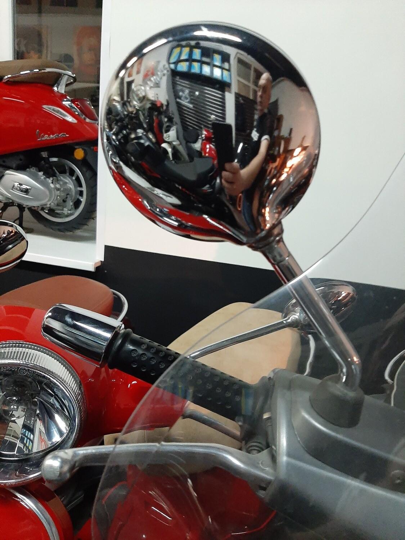 Зеркала короткие (SHORTY) Хром для Vespa LX/LXV/S/ GTS/ GTS Super/GTV