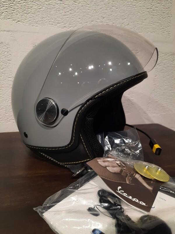 Шлем VESPA VESPA VISOR BT GRI 715 размер XL