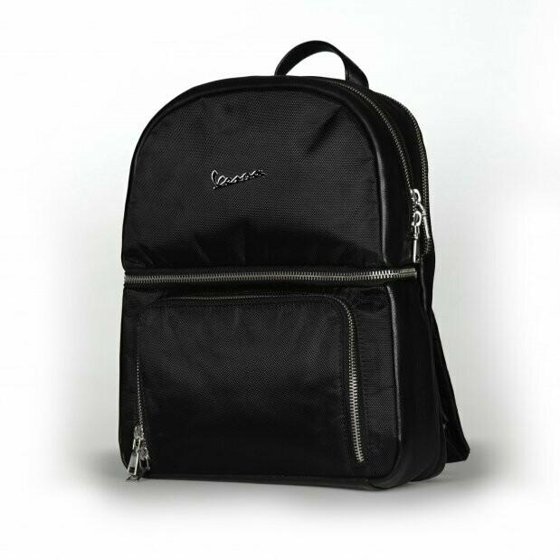 Рюкзак Vespa Sprint текстиль/кожа черный