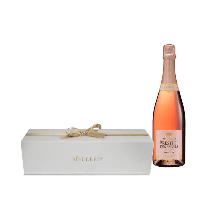 Coffret Prestige Champagne Brut Rosé Bouteille