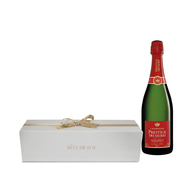 Coffret Prestige Champagne Cuvée Grenat Millésime 2012 Bouteille